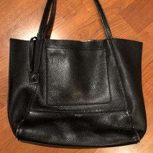 Botkier Black Leather Tote Bag